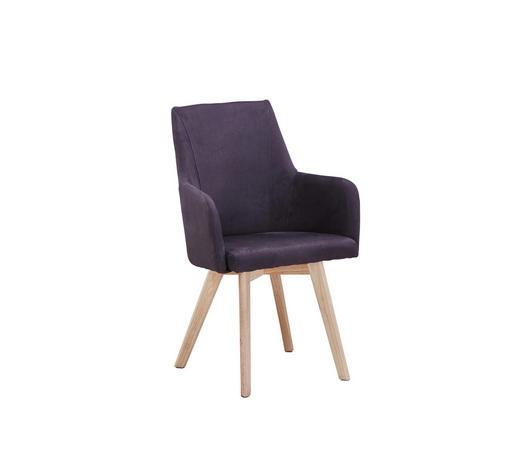 STUHL in Holz, Textil Naturfarben, Dunkelgrau - Dunkelgrau/Naturfarben, Design, Holz/Textil (56/92/56cm) - Carryhome