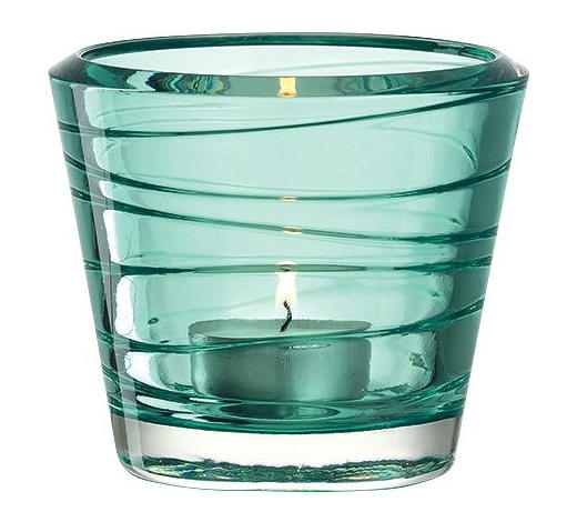 TEELICHTGLAS - Blau, Basics, Glas (9,30/8,00cm) - Leonardo