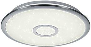 LED-DECKENLEUCHTE - Chromfarben/Weiß, Basics, Kunststoff/Metall (42/7,5cm) - Novel