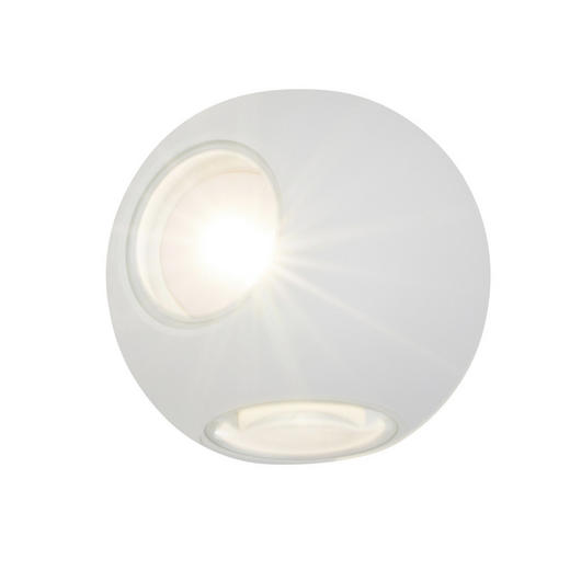 LED-WANDLEUCHTE - Weiß, Design, Glas/Metall (10cm) - AEG