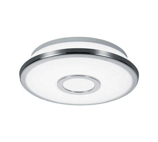 LED-DECKENLEUCHTE - Chromfarben/Weiß, Design, Kunststoff (21,0/5,0cm) - Novel