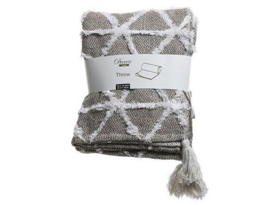 DECKE 150/130 cm Grau, Perlmutt - Perlmutt/Grau, Textil (150/130cm)