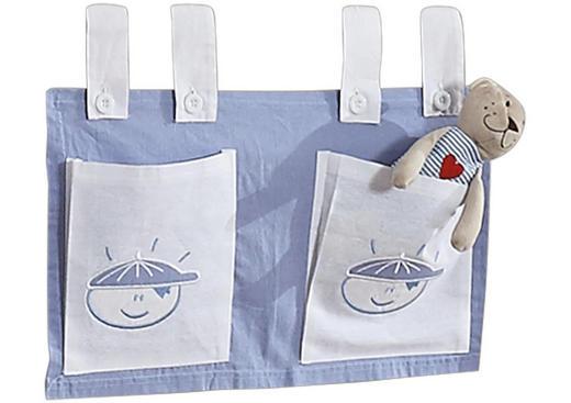 BETTTASCHE - Blau/Weiß, Design, Textil