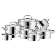 KOCHTOPFSET 7-teilig - Silberfarben, Design, Metall (61,5/42/33,5cm) - WMF