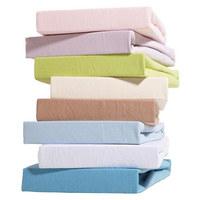 KINDERSPANNBETTTUCH - Blau/Lila, Basics, Textil (70/140cm) - MY BABY LOU