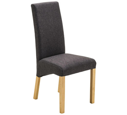 STUHL in Holz, Textil Anthrazit, Eichefarben - Eichefarben/Anthrazit, KONVENTIONELL, Holz/Textil (47/102/57cm) - Xora