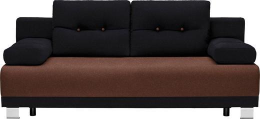 SCHLAFSOFA in Textil Braun, Schwarz - Alufarben/Schwarz, Design, Kunststoff/Textil (200/84/94cm) - Carryhome
