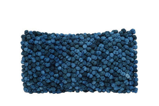 ZIERKISSEN - Dunkelblau, Design, Textil (60/30cm)