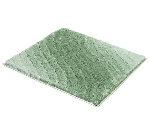 BADTEPPICH in Grün 60/60 cm - Grün, KONVENTIONELL, Kunststoff/Textil (60/60cm) - Kleine Wolke