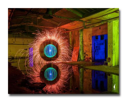 Abstraktes ACRYLGLASBILD - Multicolor, Basics, Kunststoff (65/50cm) - Wiedemann