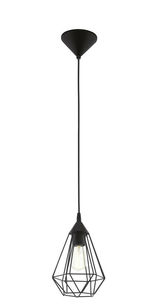 VISEČA SVETILKA TARBES - črna, Trendi, kovina/umetna masa (17/110cm)