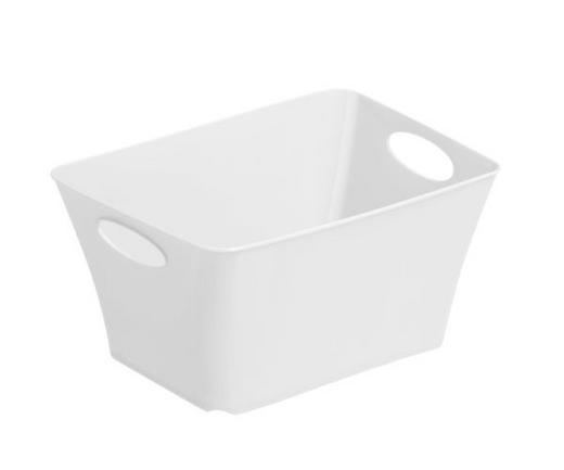 BOX Kunststoff Weiß - Weiß, Basics, Kunststoff (18/13.4/9cm) - Rotho
