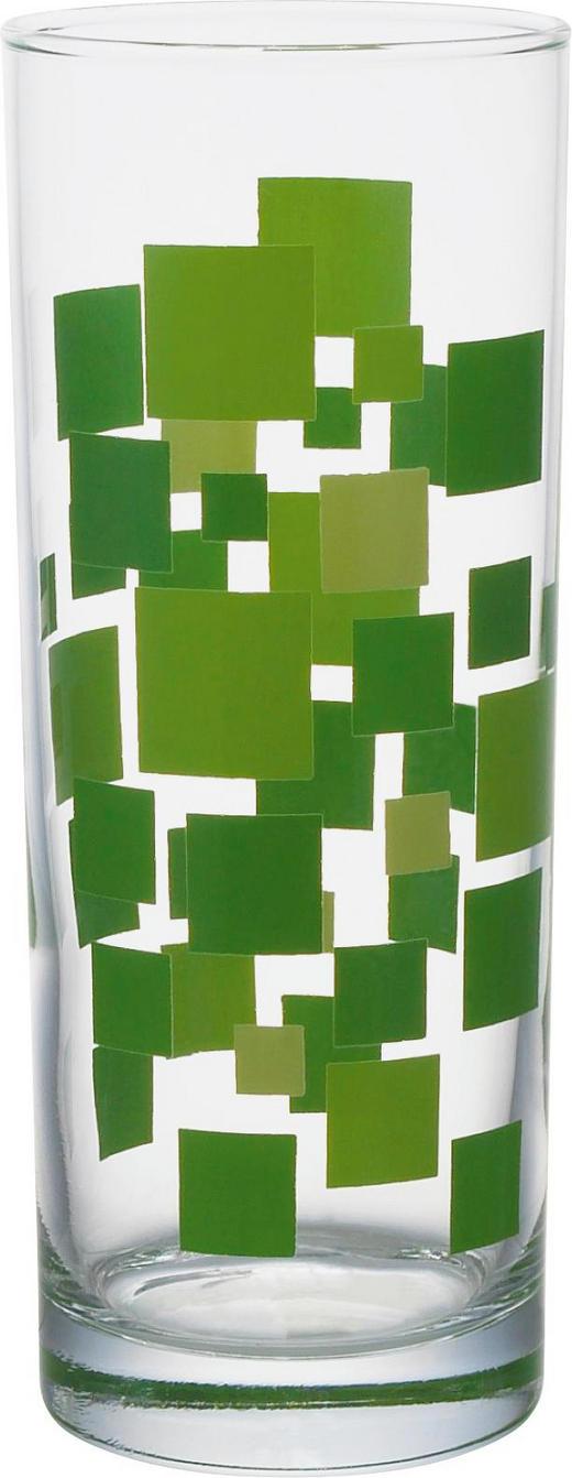 ČAŠA ZA LONG DRINK - svijetlo zelena/zelena, Basics, staklo (6,3/16cm) - HOMEWARE