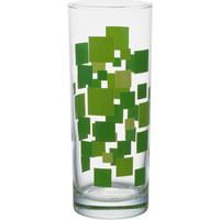 LONGDRINKGLAS 360 ml - Dunkelgrün/Hellgrün, KONVENTIONELL, Glas (6,3/16cm) - Homeware