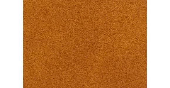 WOHNLANDSCHAFT Mikrofaser Armteilverstellung, Kopfteilverstellung, Rücken echt, Zierkissen - Currygelb/Chromfarben, Design, Textil/Metall (281/186cm) - Hom`in