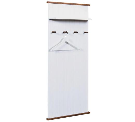 GARDEROBENPANEEL Kiefer massiv lackiert Braun, Weiß  - Braun/Weiß, LIFESTYLE, Holz (64/145/22cm) - Carryhome
