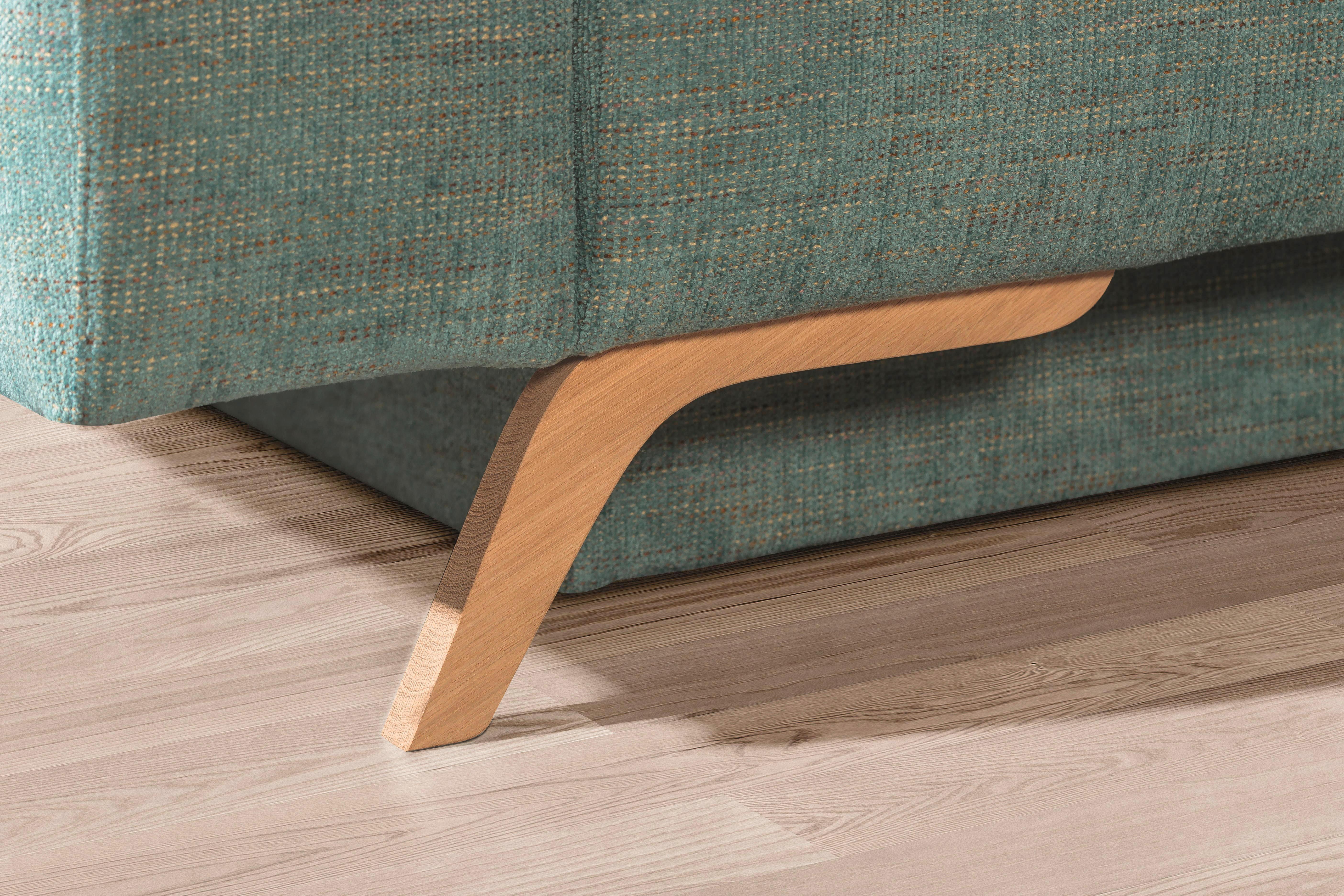 SCHLAFSOFA Webstoff Hellblau - Hellblau, Design, Holz/Textil (202/90/90cm) - NOVEL