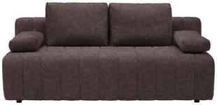 SCHLAFSOFA in Textil Braun  - Schwarz/Braun, MODERN, Kunststoff/Textil (198/87/92cm) - Xora