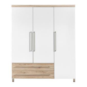 KOJENECKÁ ŠATNÍ SKŘÍŇ - bílá/barvy stříbra, Konvenční, kov/kompozitní dřevo (164/198,3/55,9cm) - Paidi