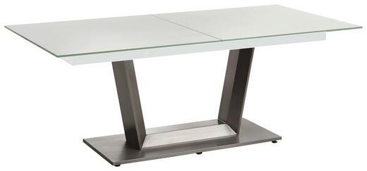 ESSTISCH in Glas, Metall - Edelstahlfarben/Weiß, Design, Glas/Metall (160(210)/100/77cm) - Dieter Knoll