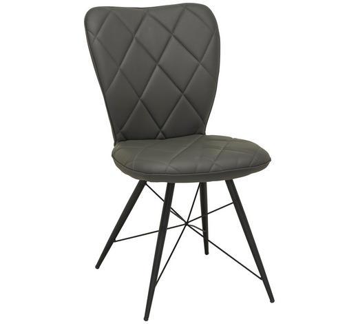 ŽIDLE, šedá, černá - šedá/černá, Design, kov/textil (49/90/61cm) - Hom`in
