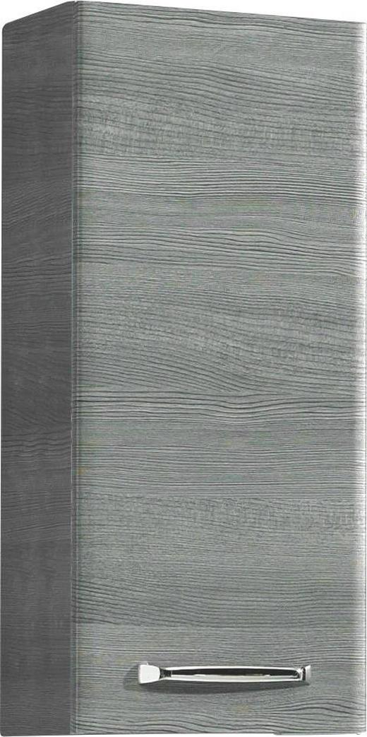 HÄNGESCHRANK Graphitfarben - Chromfarben/Graphitfarben, Design, Glas/Holzwerkstoff (30/70/20cm) - Xora