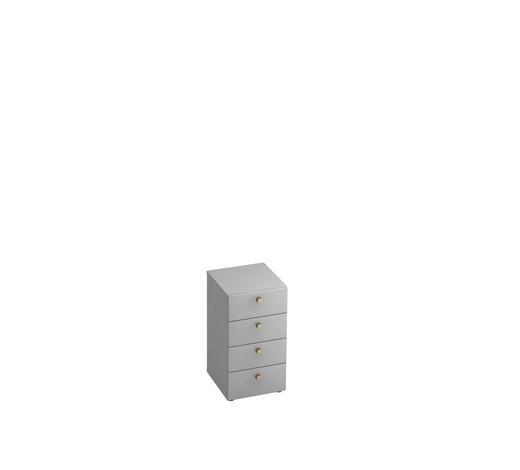 ANSTELLCONTAINER - Alufarben/Grau, KONVENTIONELL, Holzwerkstoff/Metall (40/74.8/42cm)