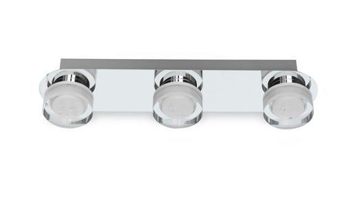 BADEZIMMER-WANDLEUCHTE - Chromfarben, Design, Kunststoff/Metall (45/10/8,5cm) - Celina