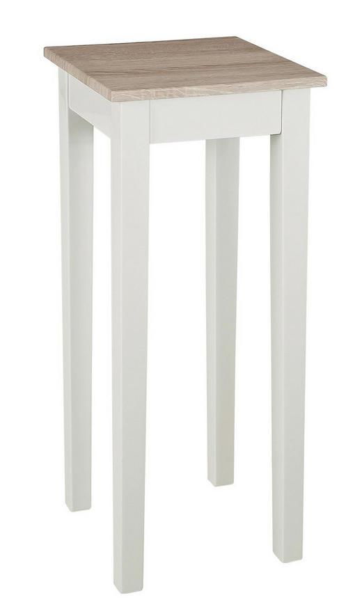 BEISTELLTISCH rechteckig Sonoma Eiche, Weiß - Weiß/Sonoma Eiche, Design (30/61/30cm)