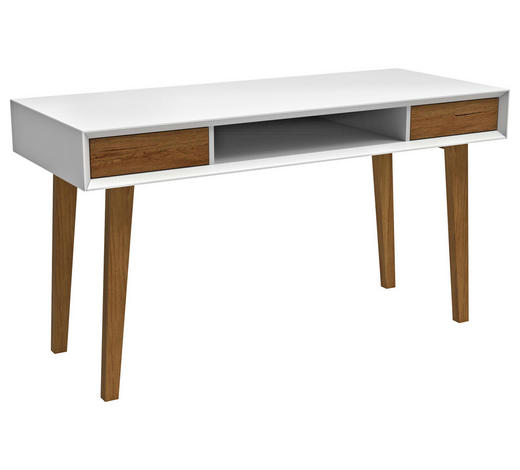 PSACÍ STŮL, pinie, jedle, eukalyptové dřevo, bílá, barvy dubu - bílá/barvy dubu, Design, dřevo/kompozitní dřevo (120/76/59cm) - Carryhome