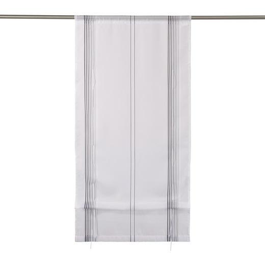 RAFFROLLO  transparent   60/130 cm - Schwarz/Weiß, Basics, Textil (60/130cm) - NOVEL