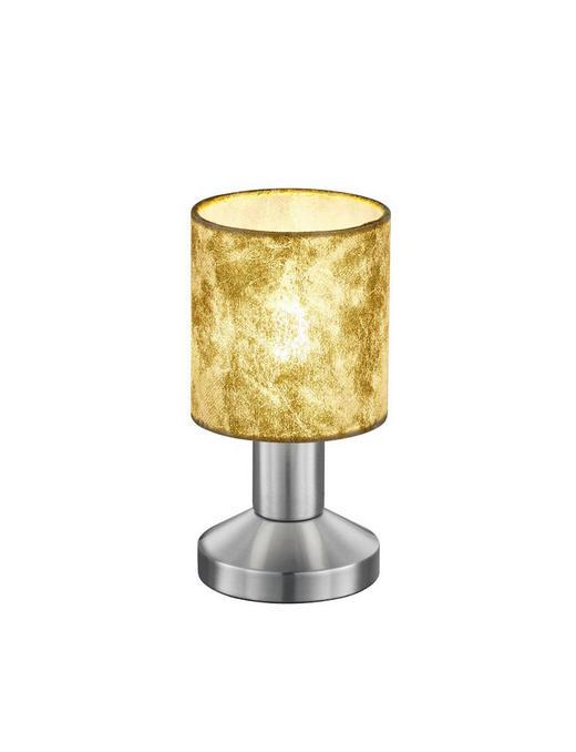 TISCHLEUCHTE - Goldfarben/Nickelfarben, LIFESTYLE, Textil/Metall (9,5/18,0cm)