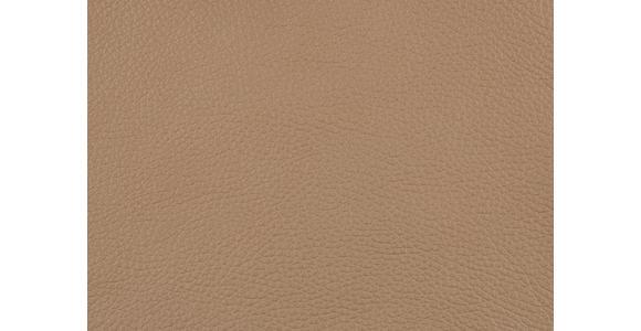 DREISITZER-SOFA in Leder Creme  - Creme/Alufarben, Design, Leder/Metall (190/82/99cm) - Dieter Knoll