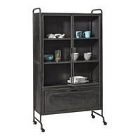 VITRÍNA, černá - černá, Design, kov/sklo (105/183,5/40,2cm) - Ambia Home