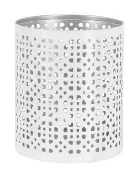 VÄRMELJUSHÅLLARE - vit/silver, Klassisk, metall (1/014cm) - Ambia Home