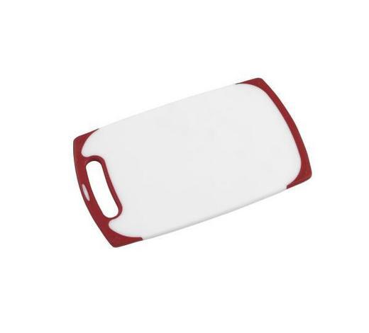 DASKA ZA REZANJE - bijela/crvena, Konvencionalno, plastika (25/15/1cm) - Homeware