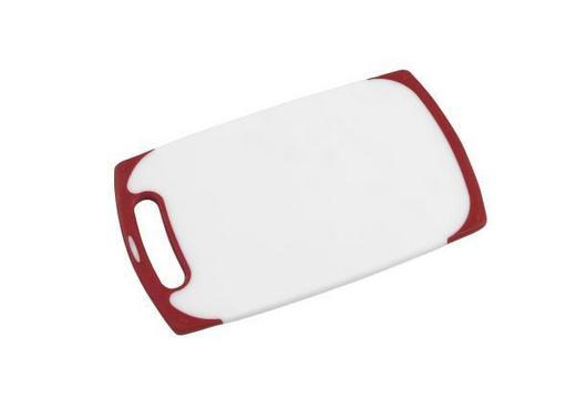 SCHNEIDEBRETT - Rot/Weiß, Basics, Kunststoff (25/15/1cm) - Homeware