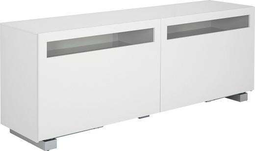 SIDEBOARD 211,3/70,4/52 cm - Silberfarben/Weiß, Design, Glas/Holzwerkstoff (211,3/70,4/52cm) - Now by Hülsta