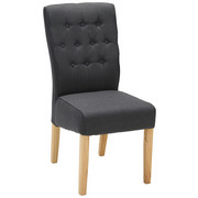 STUHL in Holz, Textil Anthrazit, Eichefarben - Eichefarben/Anthrazit, KONVENTIONELL, Holz/Textil (45/99/66cm) - Venda