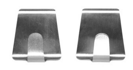 KLEBEHAKEN in Silberfarben - Silberfarben, Basics, Metall (5cm)