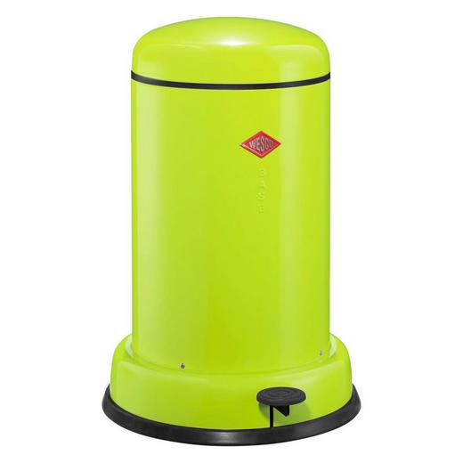 ABFALLSAMMLER BASEBOY 15 L - Edelstahlfarben/Limette, Metall (36,2/53,5cm) - Wesco