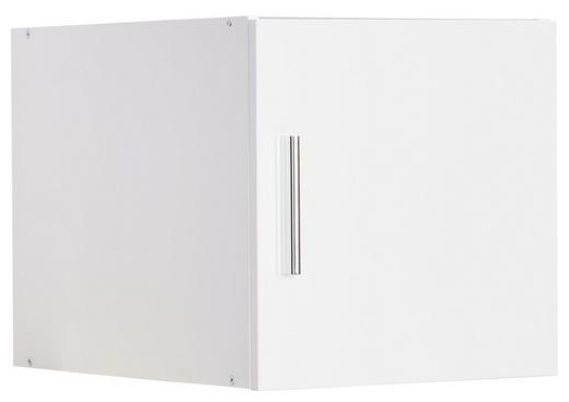 AUFSATZSCHRANK - Chromfarben/Weiß, Design, Holzwerkstoff/Kunststoff (30/40/54cm) - Xora