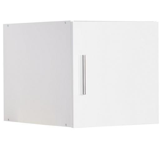 AUFSATZSCHRANK - Chromfarben/Weiß, Design, Holzwerkstoff/Kunststoff (50/40/40cm) - Xora