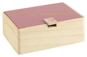 DEKORATIONSLÅDA - bär/guldfärgad, Trend, metall/träbaserade material (14/10/5cm) - Ambia Home