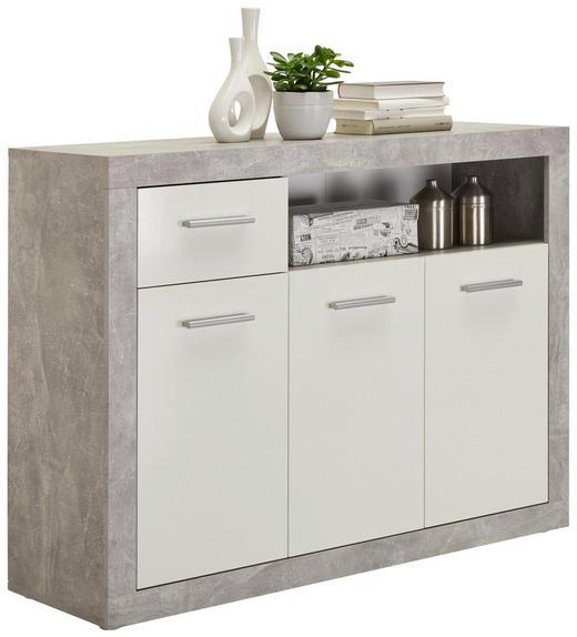 KOMMODE 117/88/37 cm - Silberfarben/Alufarben, Design, Holzwerkstoff/Kunststoff (117/88/37cm) - Carryhome