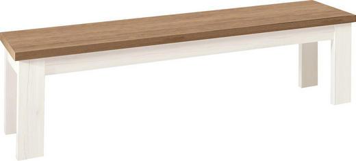SITZBANK EICHE NELSON Eichefarben, Weiß - Eichefarben/Weiß, Design (160/45/43cm) - SetOne by Musterring
