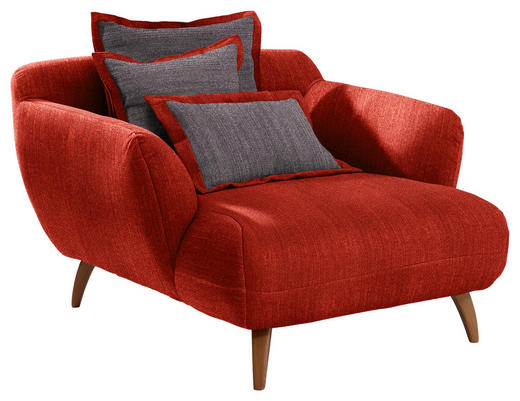 BIG SESSEL in Textil Dunkelgrau, Rot - Dunkelgrau/Rot, Design, Holz/Textil (120/85/150cm) - Carryhome