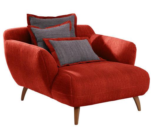 BIG SESSEL in Textil Rot, Dunkelgrau  - Dunkelgrau/Rot, Design, Holz/Textil (120/85/150cm) - Carryhome