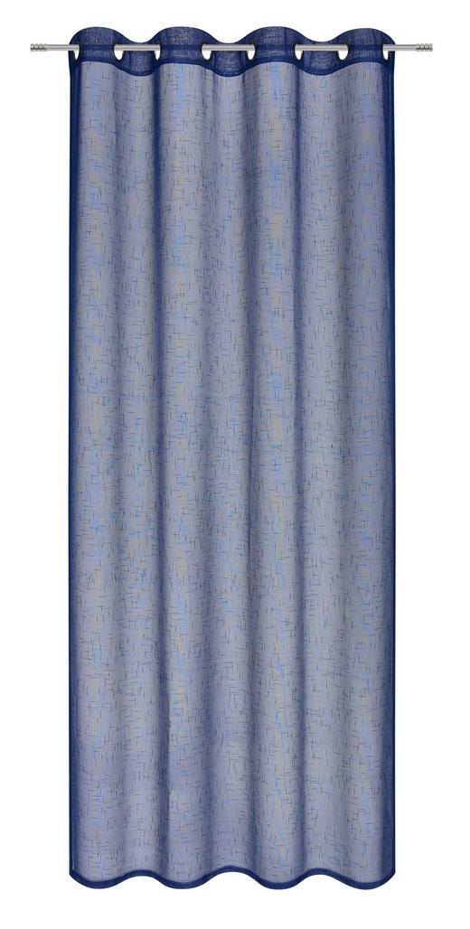 ÖSENVORHANG halbtransparent - Blau, Basics, Textil (135/245cm) - Boxxx