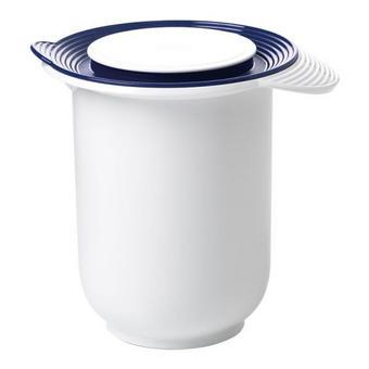 VISPSKÅL - vit/blå, Basics, plast (1,2l) - EMSA